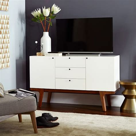 modern media console modern media console white west elm