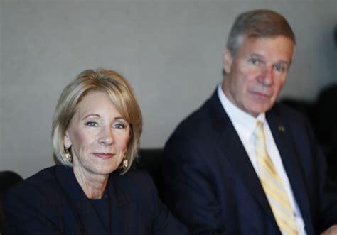betsy devos in atlanta devos vows cus sex assault rules will be fair to all