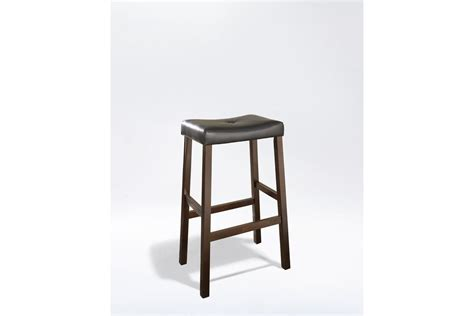 Bar Stools 29 Seat Height by Upholstered Saddle Seat Bar Stool In Mahogany With 29 Inch