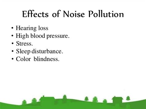 High Blood Pressure Blindness pollution and environmental pollution in the