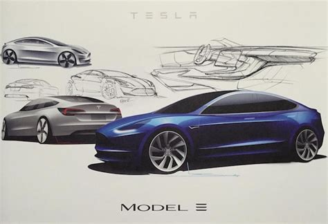 Tesla Model X Sketches by What Tesla S Model 3 Looked Like On The Drawing Board Bgr