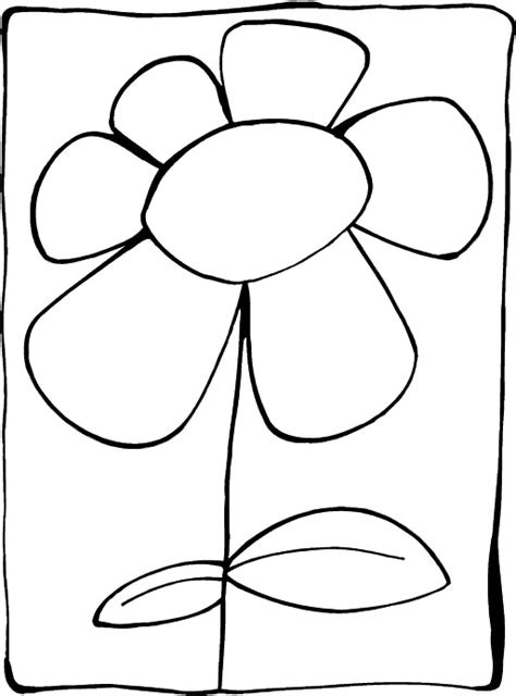 coloring pages of simple flowers flower coloring pages printable world