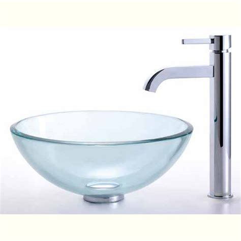 14 inch vessel sink homecomforts com kraus clear 14 inch glass vessel sink