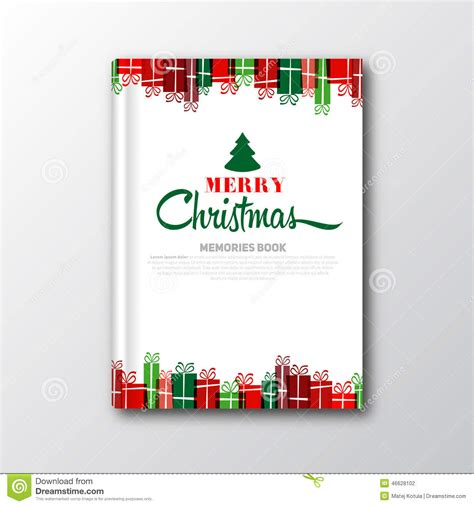 christmas book cover or flyer template stock illustration