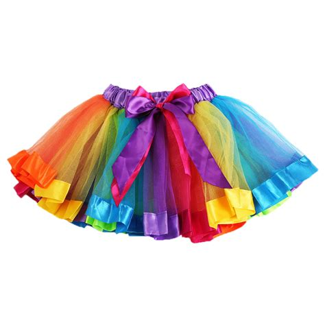 colorful skirts baby lovely colorful tutu skirt rainbow tulle