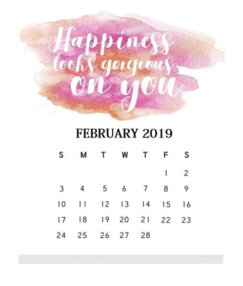 inspirational february  quotes calendar maxcalendars