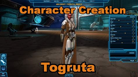 hutten jedi swtor new togruta species character creation all