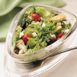 Garden Salad Recipe Ideas Mediterranean Green Salad Recipe Taste Of Home