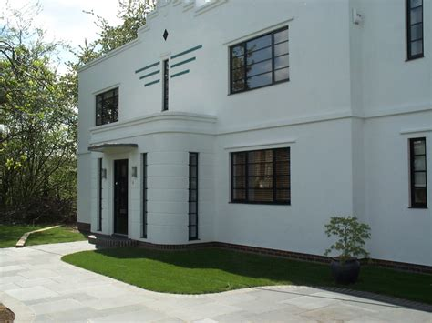 art deco home design new buildings built in traditional architecture style