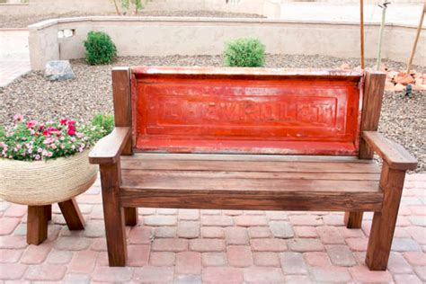 tailgate bench instructions truck tailgate bench is a diy project that upcycles a vintage vehicle