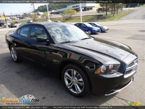 2013 dodge charger r t awd pitch black black photo 7