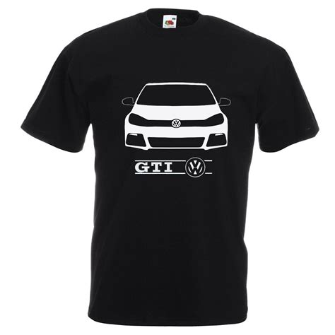 Tshirt Vw Black 2 new vw golf gti design black white t shirt what s