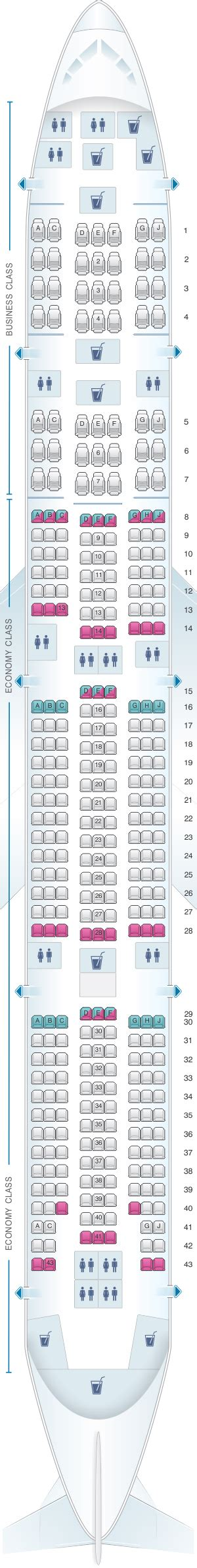 seat map egyptair boeing b777 300 seatmaestro