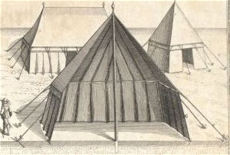 3 section tent european tent in cross section showing arrangement of