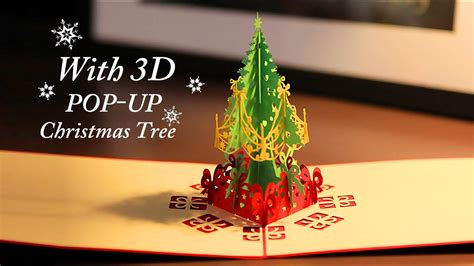 christmas card 3d making greeting card with 3d pop up tree