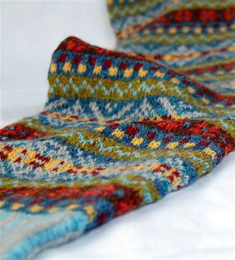 knitting pattern fair isle scarf ravelry hgd11 s fair isle scarf knits pinterest