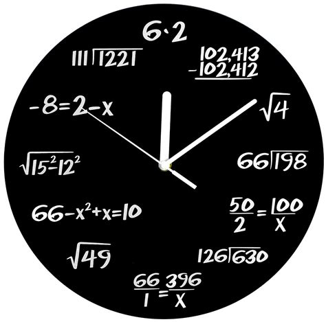 Top Quality Duvet Covers Amazon Com Decodyne Math Clock Unique Wall Clock