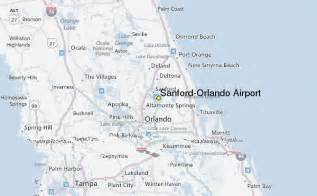 Orlando Location Map by Sanford Orlando Airport Weather Station Record