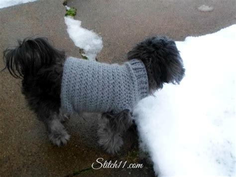 crochet pattern for dog coat xs dog sweater