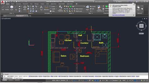 tutorial autocad hatch autocad complete floor plan part 9 hatch tutorial