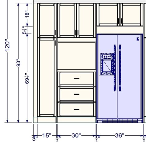 kitchen cabinets measurements customize an ikea tall cabinet with drawers