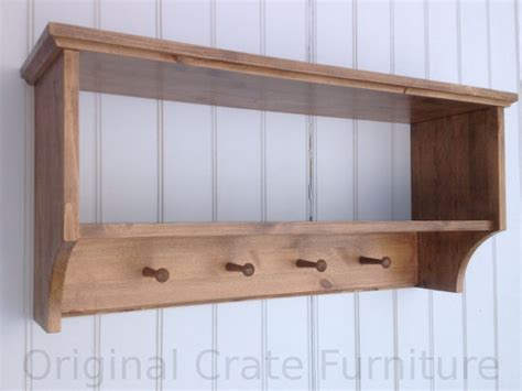 Wooden Coat Pegs With Shelf by Hat Coat Rack With Shelf Wall Mounted Solid Wood Display