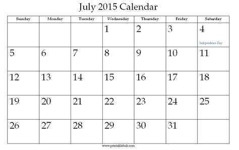 2015 calendar template word 2010 image gallery month of july 2015