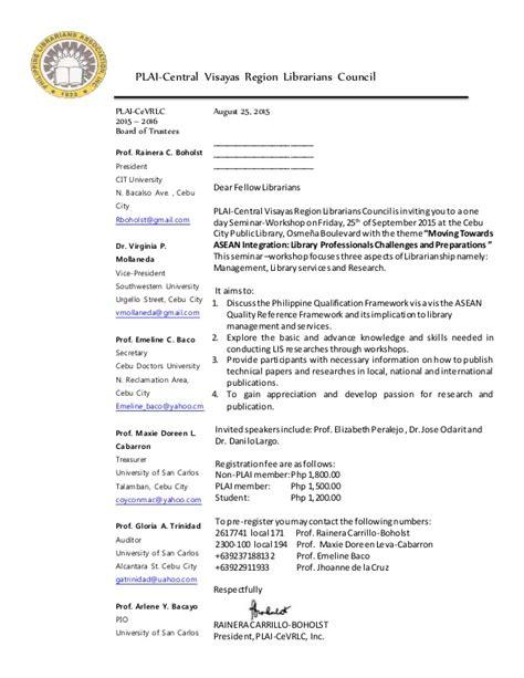 Invitation Letter For Conference 2015 plai cevrlc mid year regional conference 2015 invitation