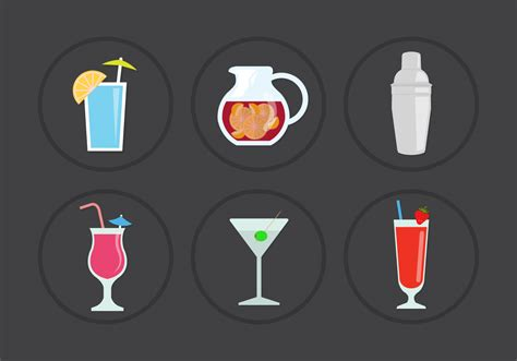 cocktail icon vector cocktail vector icons free vector stock