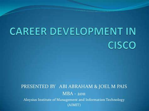 Mba Helps Career Growth by Cisco Career Development