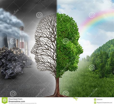 chagne tree environment change stock illustration image of concept