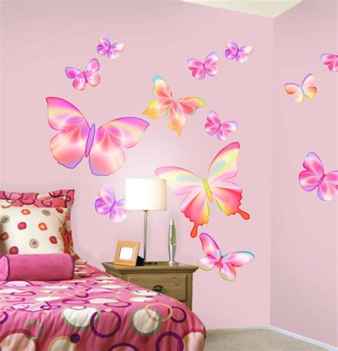growth chart fluttering butterflies pre pasted or