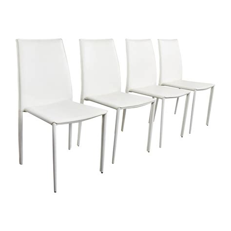 all modern dining white leather dining chairs enyo white faux leather u0026
