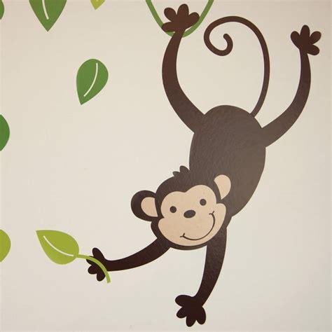 monkey wall sticker monkey branch and giraffe wall stickers by parkins