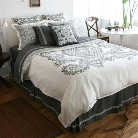 grey and cream bedding amy butler bucharest twin duvet cover charcoal gray and