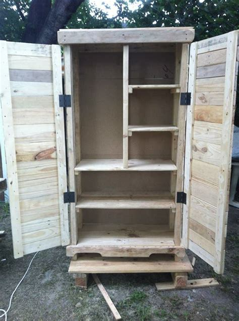 building cabinets out of pallets recycled wood pallets storage cabinet pallet ideas