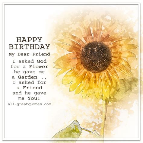 Happy Birthday Dear Friend Quotes Happy Birthday My Dear Friend Free Birthday Cards For