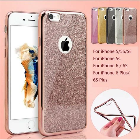 bling glitter shockproof silicone case cover  iphone   se      ebay