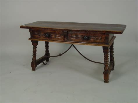 Spain Table by 19th C Colonial 2dr Sofa Table