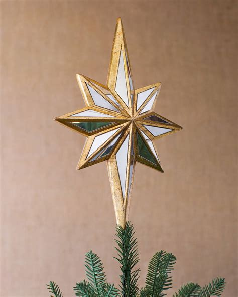beautiful star christmas tree toppers for a dazzling