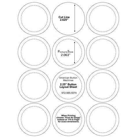 2 Inch Button Template Teacher 2 25 Inch Button Art Pinterest Template 2 25 Button Template