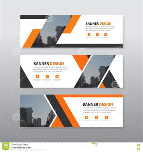 layout design for banner orange black abstract corporate business banner template