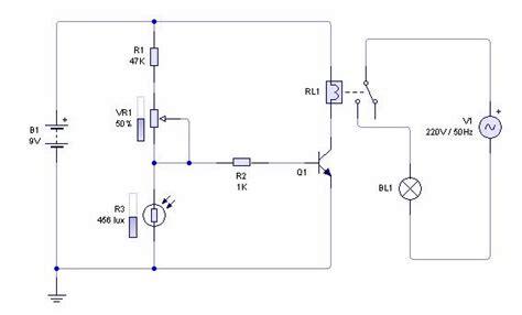 gambar film no sensor skema rangkaian sensor cahaya