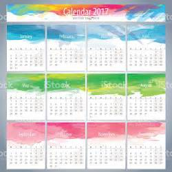 calendar photo template watercolor calendar 2017 template stock vector