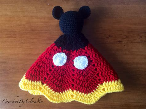 minnie mouse doll knitting pattern mickey mouse inspired lovey security blanket amigurumi doll