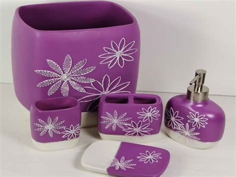 lavender bathroom set lavender bathroom decor purple bathroom accessories set