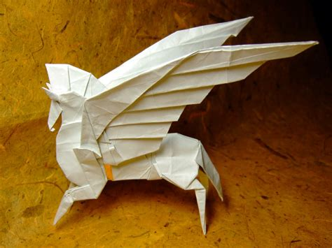 Origami Pegasus Diagram - pegasus by fumiaki kawahata by guspath on deviantart