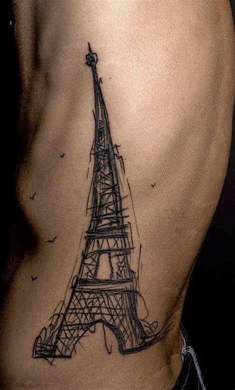 eiffel tower tattoo on hand eiffel tower rib cage tattoo