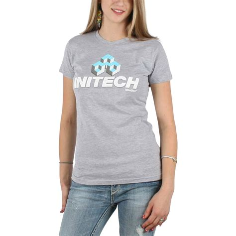 office space womens initech t shirt in ash grey