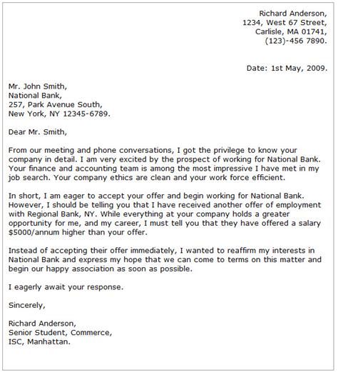 business letter to bank cover letter templates
